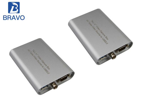 Cina Portable A / V Capture YPbPr Ke USB Video Audio Capture Perangkat FCC Certificate pabrik